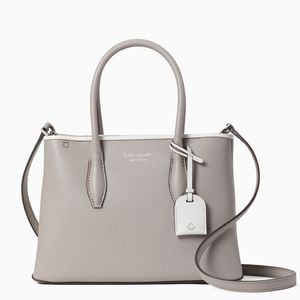Kate Spade Small Leather Satchel (Soft Taupe)